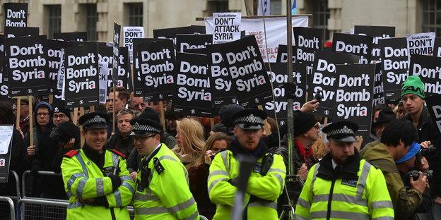 britain Syria Protest
