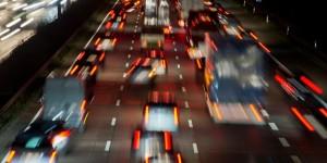 Verkehr auf der Autobahn A2