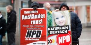 NPD Wahlkampfveranstaltung in Hamburg