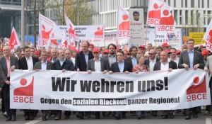 Demonstration von Verdi und IGBCE