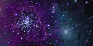 ARTIST CONCEPT OF THE EARLY FORMATIVE YEARS OF OUR MILKY WAY GALAXY